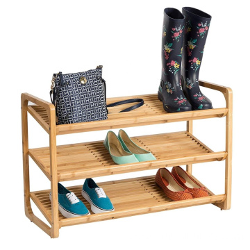 Bamboo 3-Tier Shoe Shelf