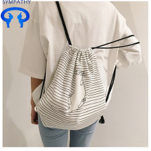 Special for Cotton Fabric Bag Drawstring Customize the fresh and artistic double shoulder bag supply to Lao People's Democratic Republic Manufacturer