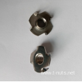 Stainless steel Zinc plated 4 Prongs Tee Nuts