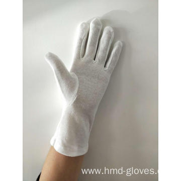 Gloves White Dotted Palms