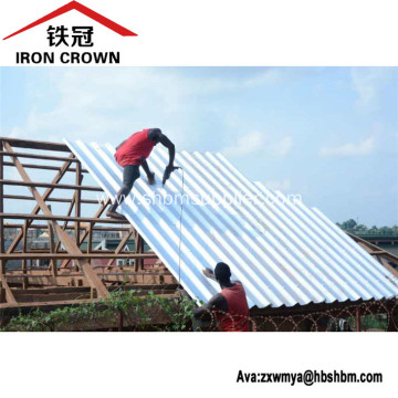 Iron Crown Non-asbestos Insulating MgO Corrugated Roof Tile