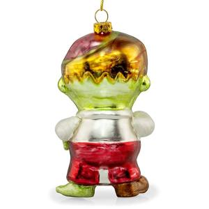 Low MOQ for Christmas Ball Ornaments Zombie Shaped Customzied Blown Painted Christmas Glass Ornament supply to Sri Lanka Importers