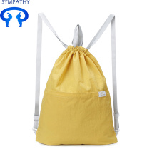 Customized for Polyester Laundry Bag Drawstring double-shoulder backpack Waterproof gym bag export to India Factory