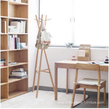 Best Quality for China Cloth Stands,Coat Rack Stand,Wood Coat Rack Manufacturer and Supplier Portable Wooden Cloth Shelf Wooden Coat Rack export to Paraguay Manufacturers
