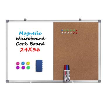Combination Dry Erase White board Bulletin Cork Board