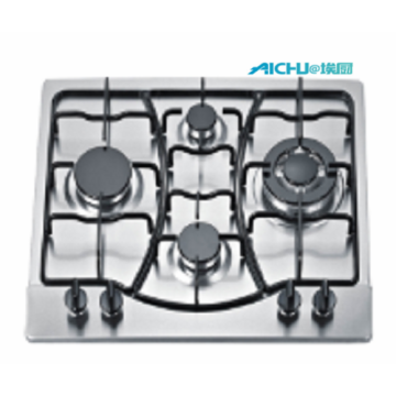 4 Burners Stainless Steel Brushed Gas Hob