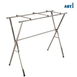 Folding stainless steel laundry rack