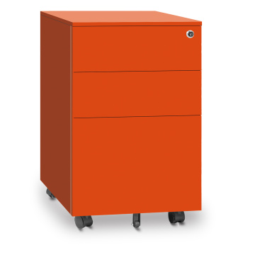 Under desk pedestal 3 drawer flat mobile cabinet