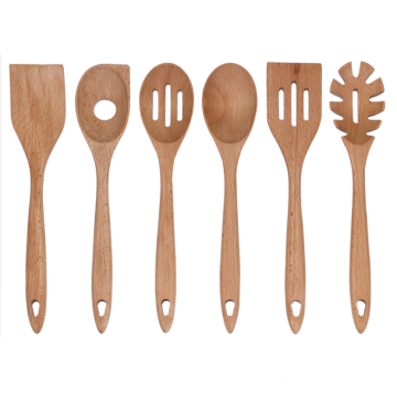 Wooden kitchen utensil for nonstick