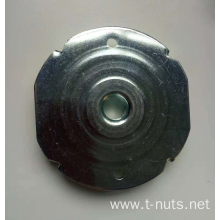 Large stainless steel four-jaw disc nut