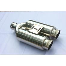 "High Quality Industrial Factory for Motorcycle Exhaust Muffler 4"" Double Muffler With Tips export to Pakistan Wholesale"