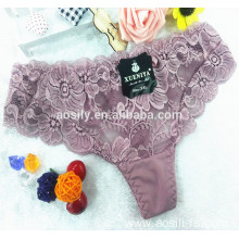 AS-581 lace fancy thong peony flower sexy intimates t-back inner wear