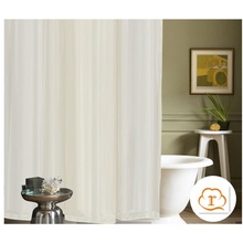 Double side waterproof stripe polyester shower curtain