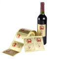 Embossing Surface Logo Wine Bottle Label Sticker