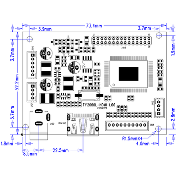 HDMI signal input LCD controller for LVDS TFT-LCD