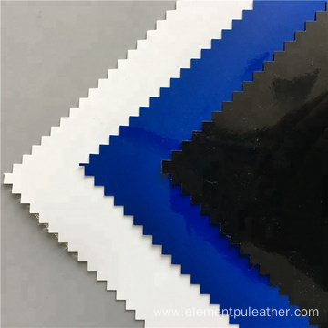 0.8mm Shiny Mirror Surface Pu Artificial Leather