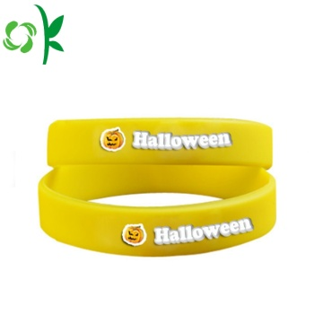 Yellow Printed Brand Power Bands Silicone Energy Wristbands