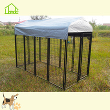 Factory Supply Factory price for Welded Wire Dog Kennel Square Tube Large Outdoor Pet Dog Kennel Cages supply to Comoros Manufacturer
