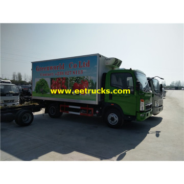 5 Ton HOWO Refrigerated Light Trucks