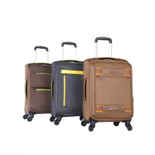 factory luggage trolley bags black suitcase for man