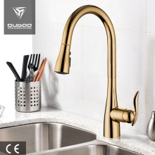Table Top Golden Pull Down Kitchen Faucet Taps