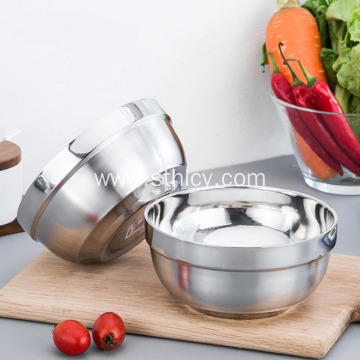 304 Stainless Steel Double Thickened Canteen Bowl