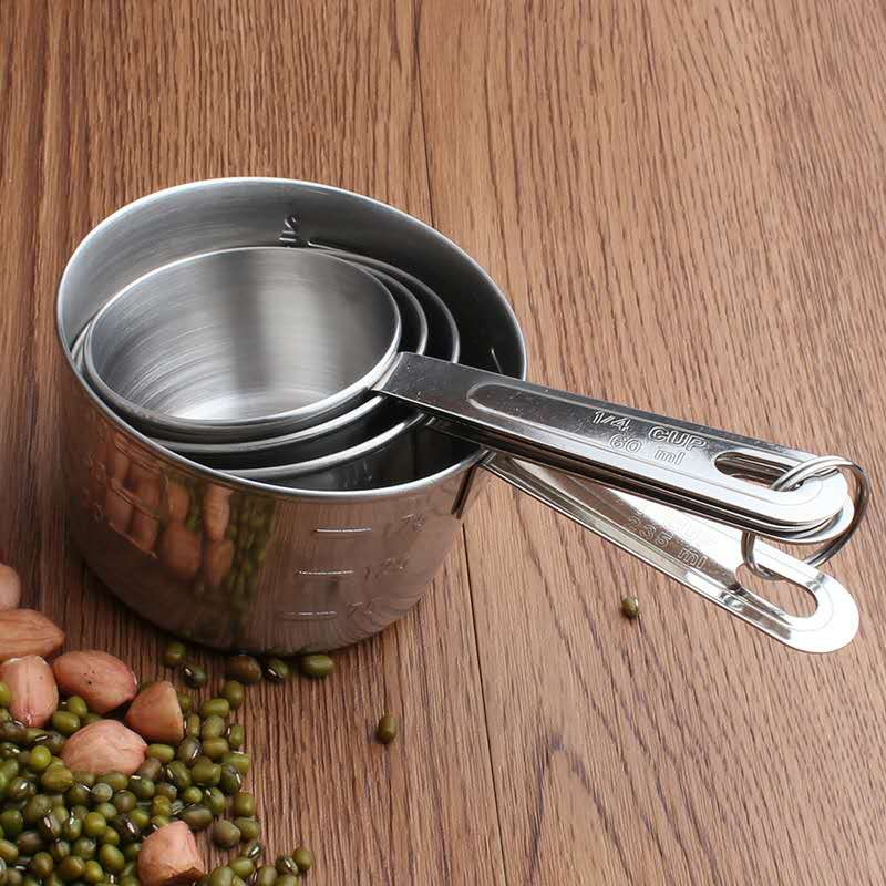 18/0 Stainless Steel Measuring Cup Set
