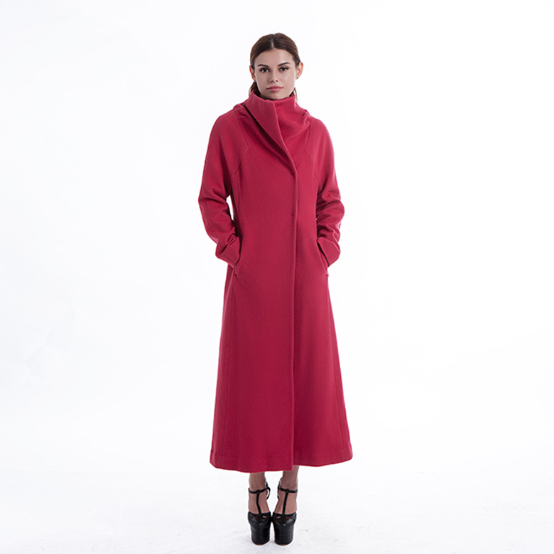 Gules Long Ladies Cashmere Coat