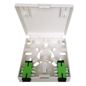 2 port FTTH Box Fiber Optic Socket Panel