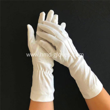 ceremonial glove with pvc dotted