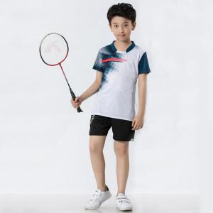 Supply for Cycling Wear Badminton shirt for boys  in functional fabric supply to Nauru Factories