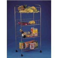 Cheap for 3 Tier Wire Basket 4 Tier Kitchen Storage Trolley supply to Netherlands Manufacturer