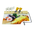 Useful kitchen glass cheese slicer with serving board