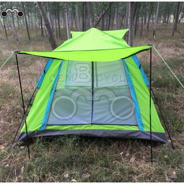 four door sinlgle layer camping tent for 3-4 person