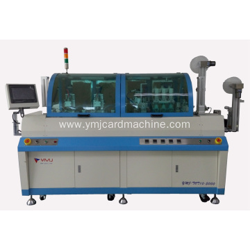 Single Chip Smart Card Milling and Embedding Machine