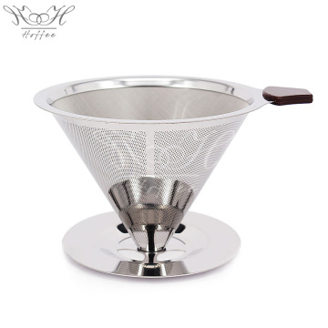 professional factory provide for Hand Coffee Drip Maker Stainless Steel Pour Over Coffee Filter Kit Paperless supply to Germany Supplier