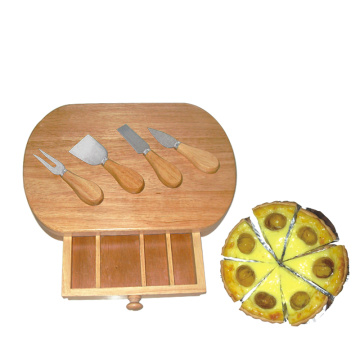 oak cheese board pizza cheese board set