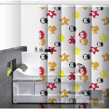 Waterproof Bathroom printed Shower Curtain Bar