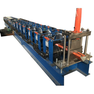 Rain gutter downspout cold roll forming machine
