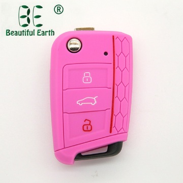 Debossed silicone remote VW Golf 7 Key Cover