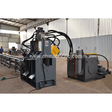 Stamping machine for flat bar