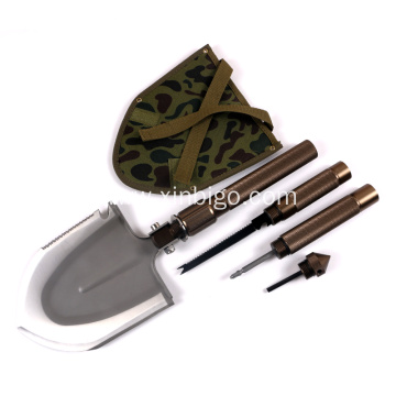 Large Size survival Military Shovel with Hoe Knife