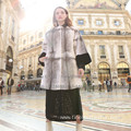 Winter Long Reversible Fur Cross Women Long Coat