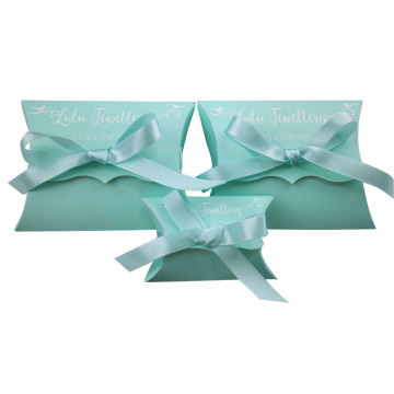 Hot sale recycled White Kraft Paper Pillow Box