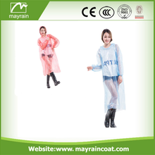 Promotional Logo Printed PE Disposable Rain Poncho