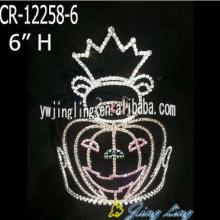 "6"" Wholesale Halloween Pumpkin Pageant Crowns"