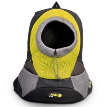 Yellow Large PVC and Mesh Pet Backpack