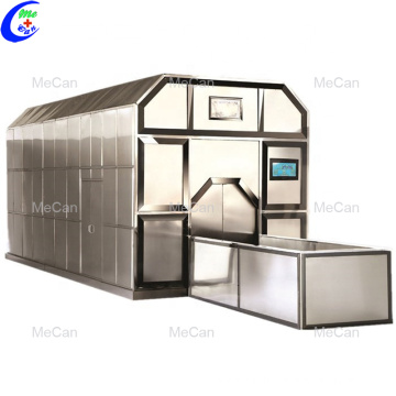 Natural gas cremation machine system