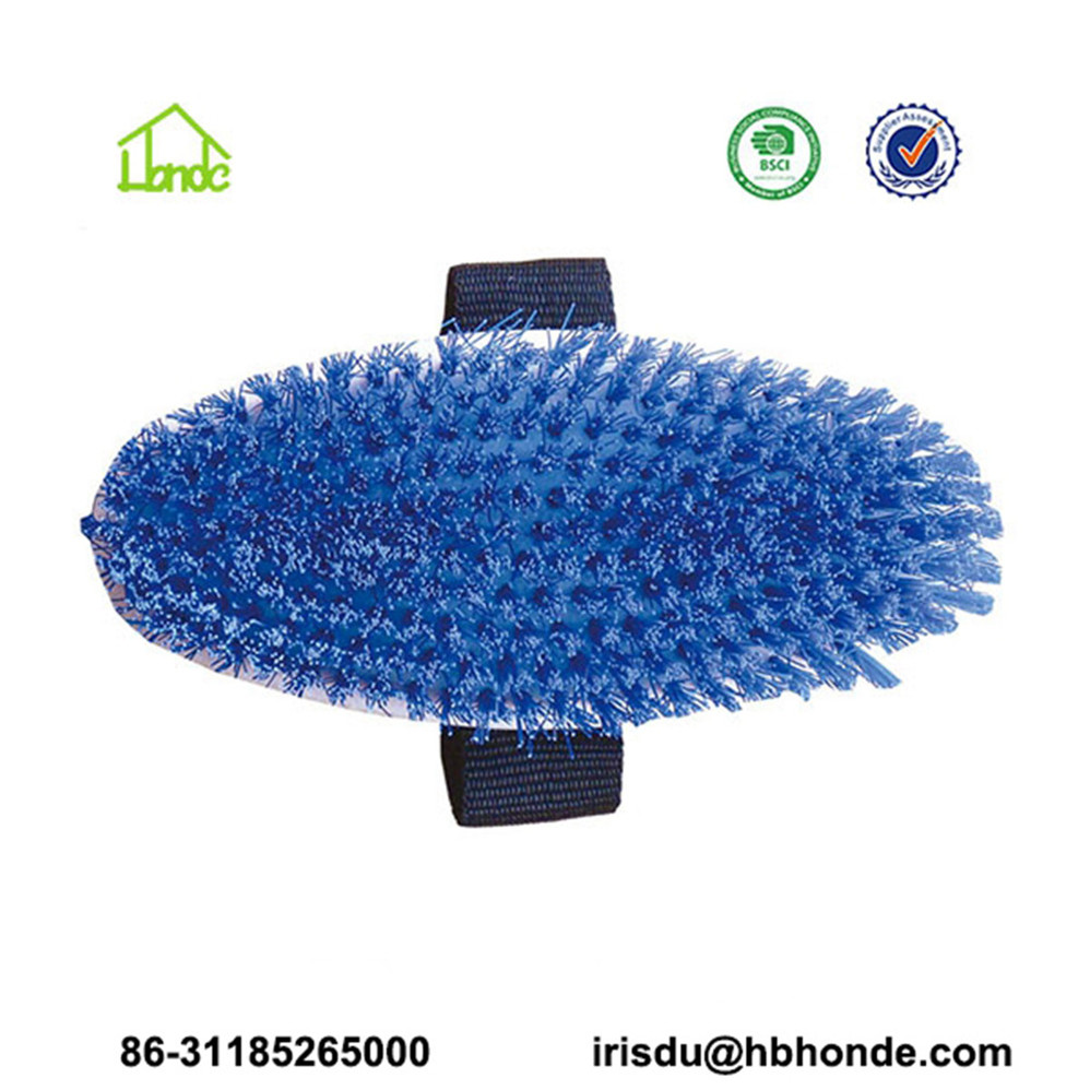 Soft Rubber Horse Body Brush with PP Bristle