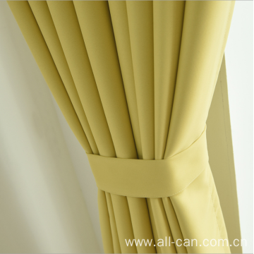 Minimalist blackout cloth grommet curtain fabric